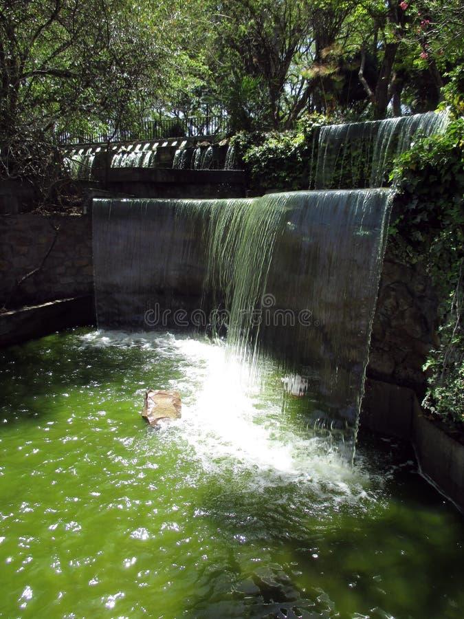 Beautiful balconies and waterfalls in the Cerro San Bernardo Salta Jujuy Argentina royalty free stock images