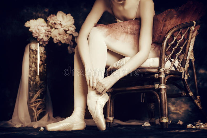 Beautiful ballerina royalty free stock image