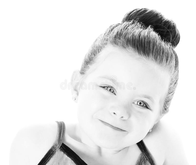 Beautiful ballerina close up portrait stock image