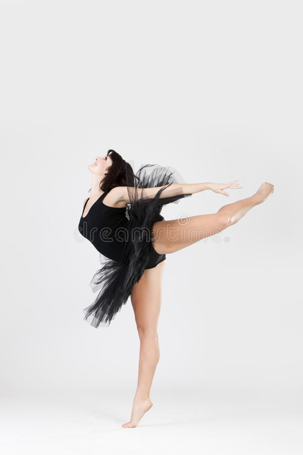Download Beautiful Ballerina Doing Split Stock Image - Image: 14093413