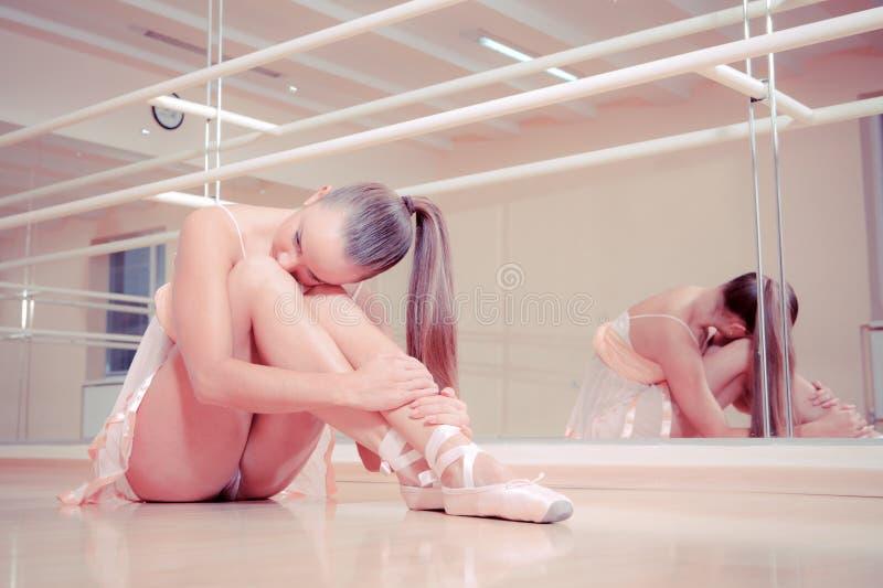 Download Beautiful Ballerina Sitting On Floor Stock Image - Image: 22570063