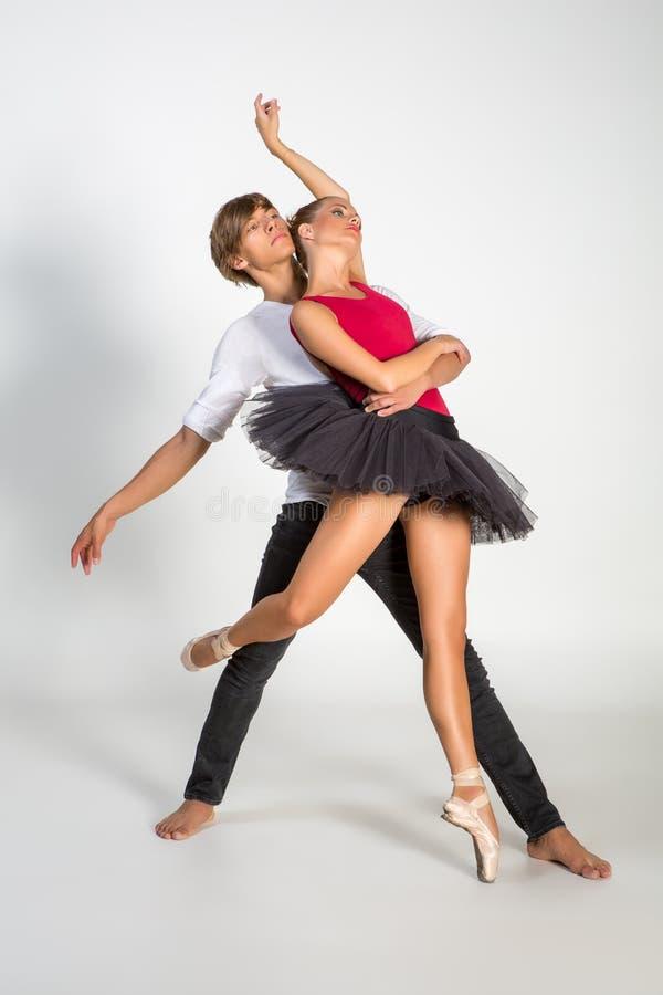 Beautiful ballet couple stock photography