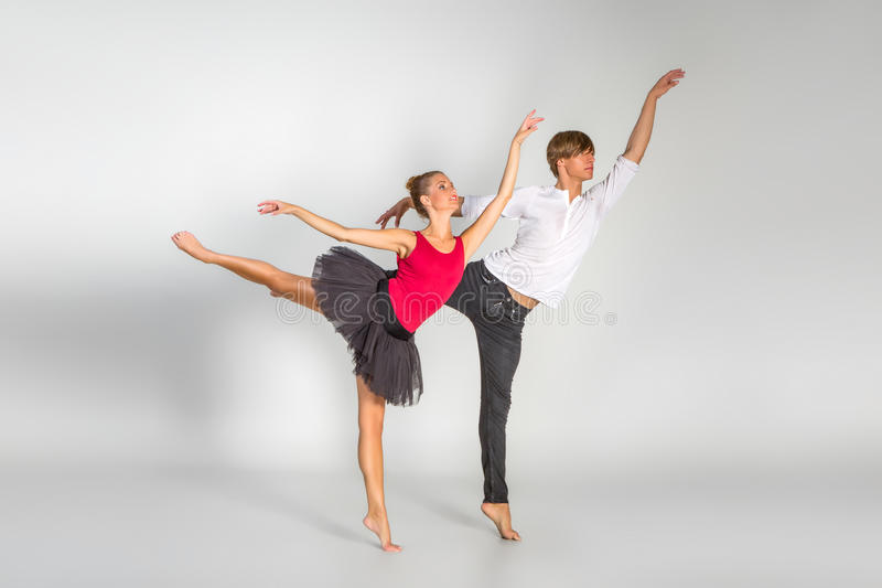 Beautiful ballet couple royalty free stock photography