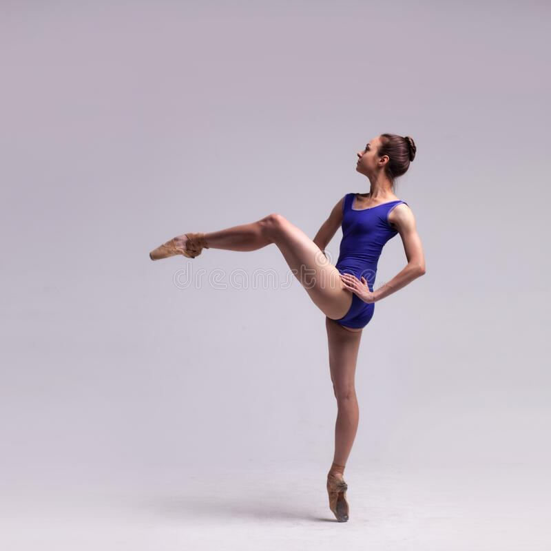 Beautiful ballet dancer isolated royalty free stock photo