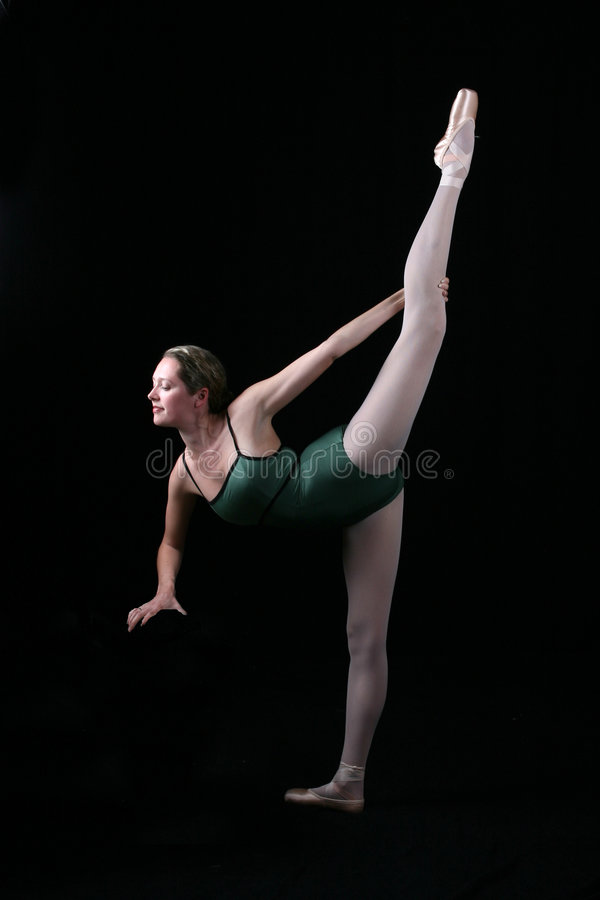 Download Beautiful Ballet Dancer With One Leg In Air Stock Image - Image: 5409149