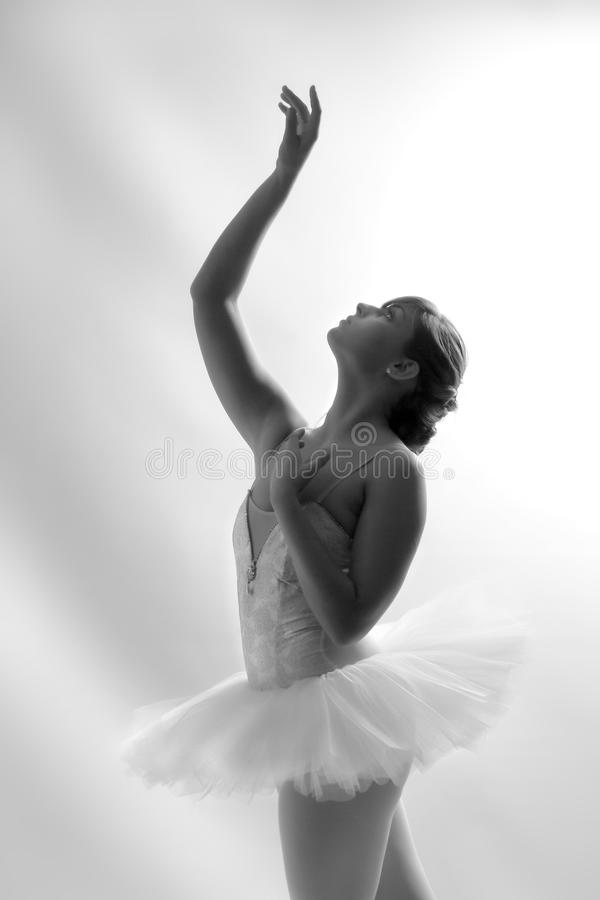 Beautiful Ballet Dancer Reaching Up royalty free stock images
