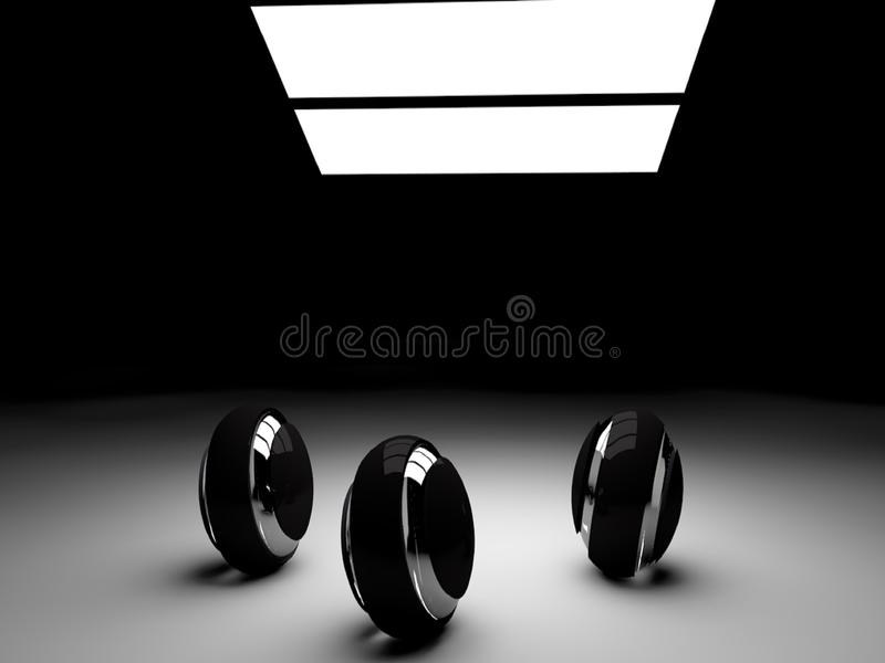 Beautiful Balls and friends love. 3d render stock photos