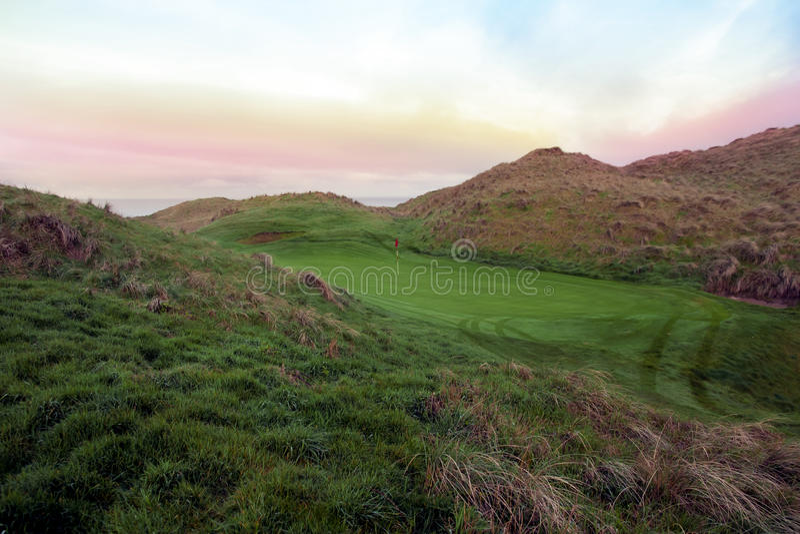 Beautiful Ballybunion links golf course. View of the Ballybunion links golf course in county Kerry Ireland royalty free stock photos