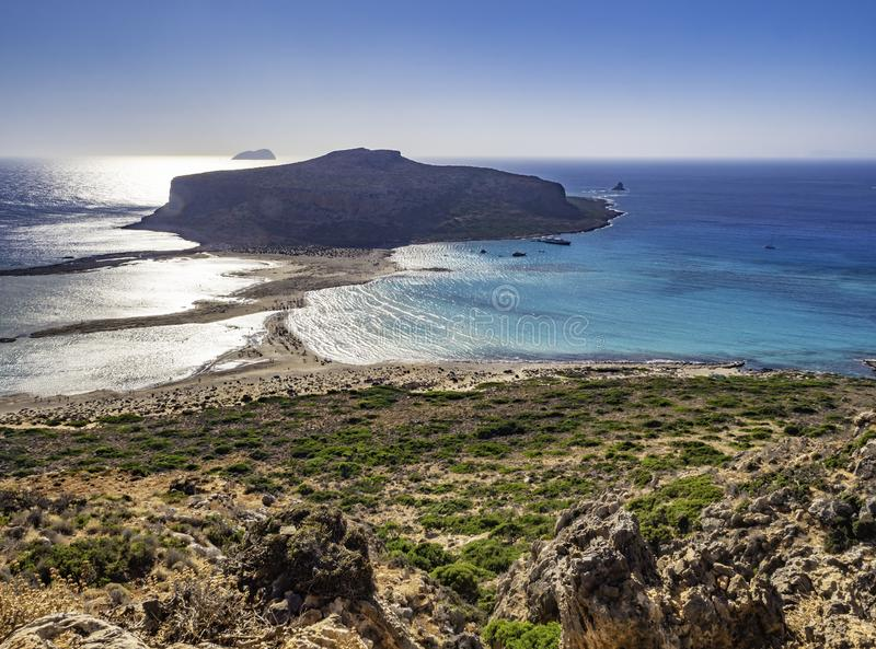 Beautiful Balos Beach, Crete, Greece royalty free stock image