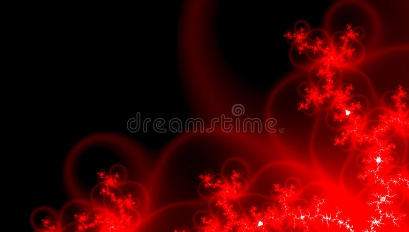 Beautiful banner with red rays on dark background. Glow light effect. Love fashion. Bright beautiful star. Happy couple. royalty free illustration
