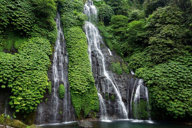 Beautiful Banyumala Waterfall in Bali, Indonesia stock image