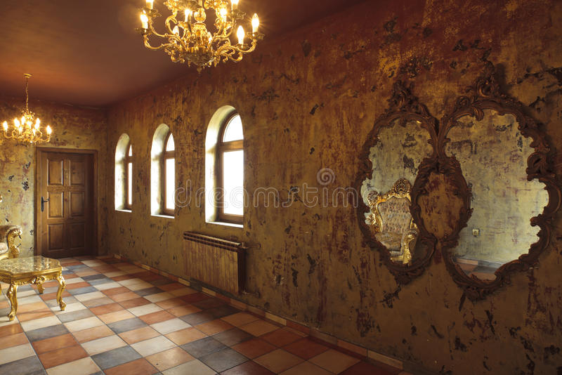 Beautiful baroque room stock images