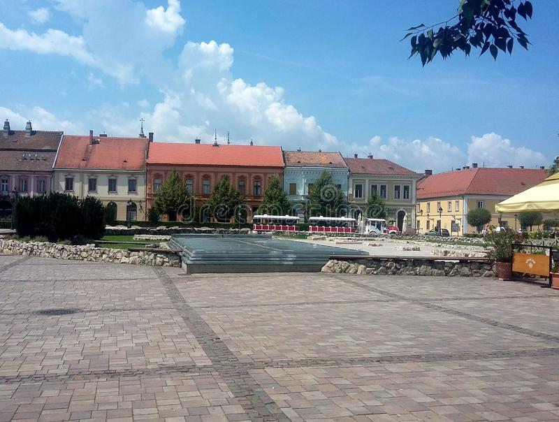 A beautiful baroque town in Hungary royalty free stock photography