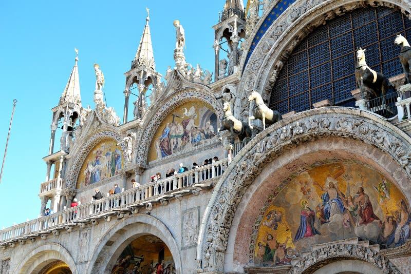 Beautiful Basilica di San Marco in Venice. Beautiful Basilica di San Marco, St. Marks cathedral in Venice in Italy royalty free stock image