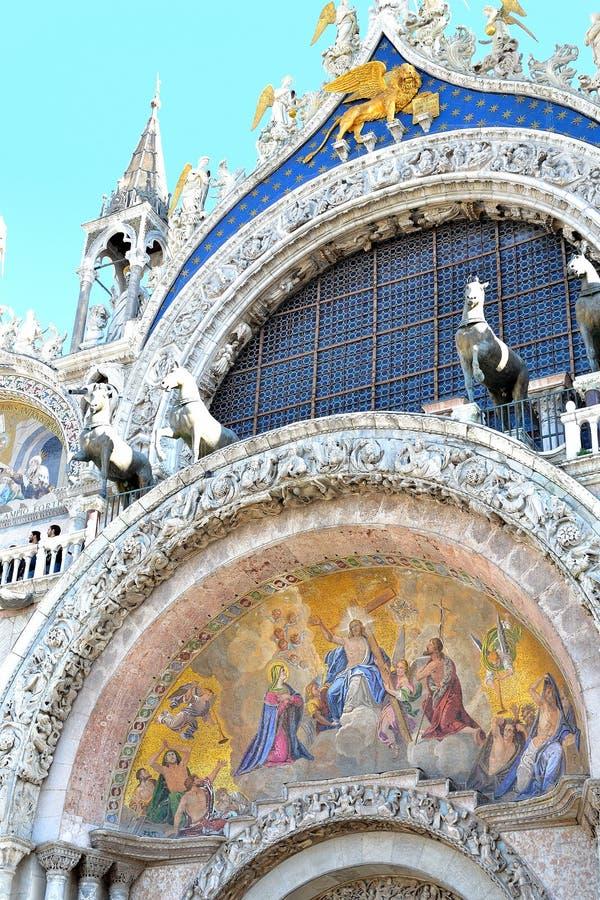 Beautiful Basilica di San Marco in Venice. Beautiful Basilica di San Marco, St. Marks cathedral in Venice in Italy stock photography