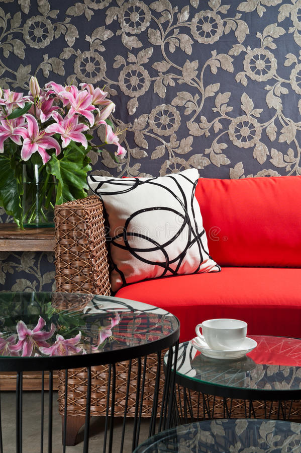 Free Beautiful Basketwork Furniture Royalty Free Stock Images - 29951749
