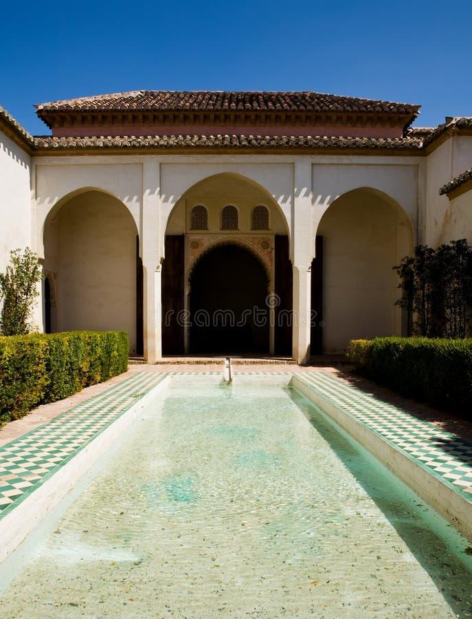 Beautiful bathing in Alcazaba palace