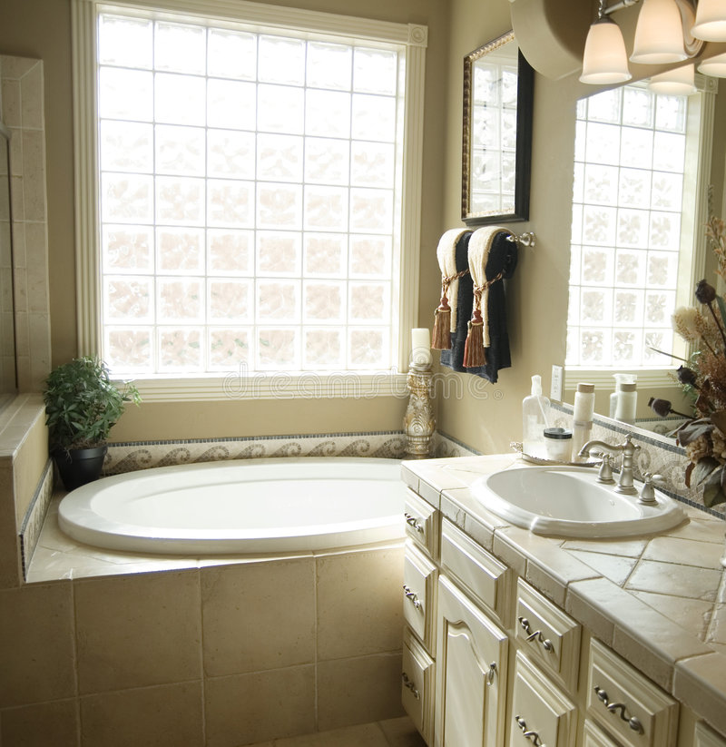 Download Beautiful Bathroom Interior Design Stock Image - Image of vanity, relax: 6275265
