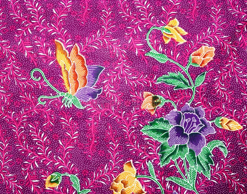 Beautiful batik patterns. Close up Beautiful batik patterns stock photo