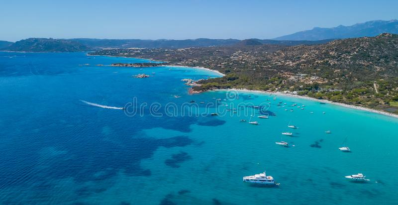 Beautiful Bay with Boats During Holiday royalty free stock image