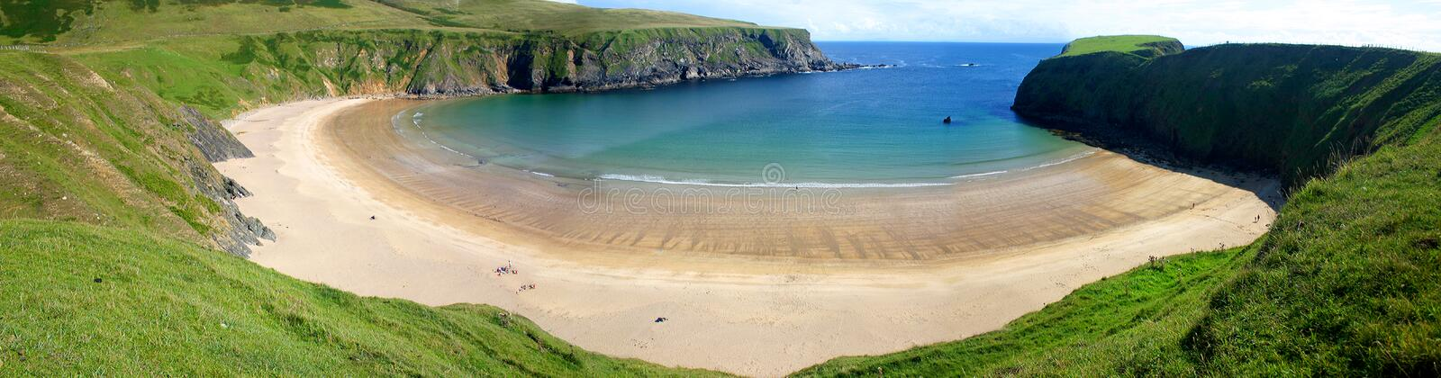 Beautiful bay in Ireland royalty free stock photography