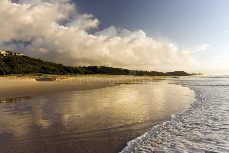 Beautiful Beach. Sunrise at Noosa beach stock photography