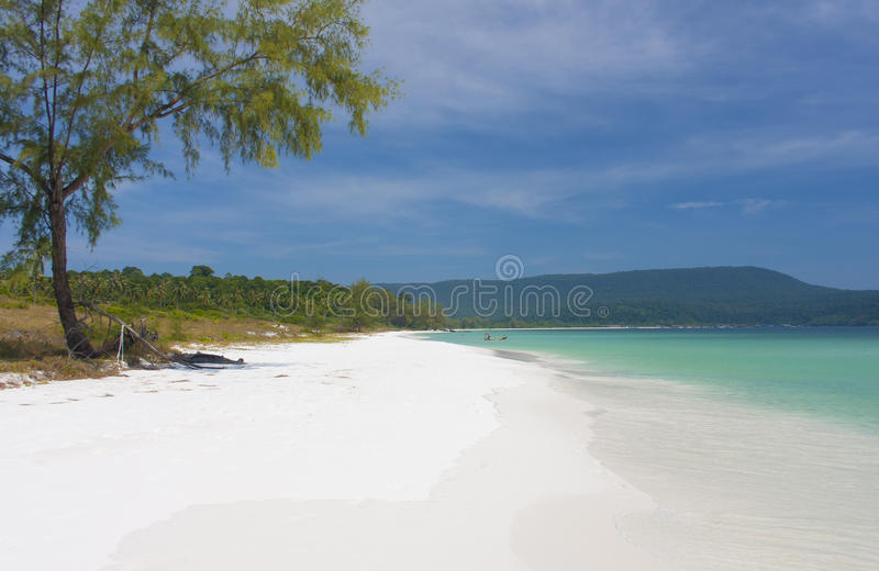 Beautiful beach in Asia stock photography