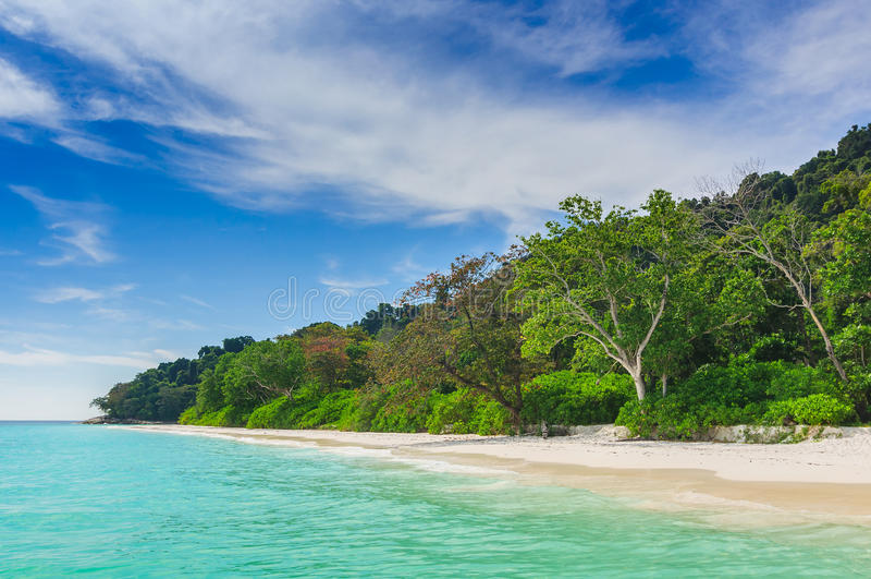 Beautiful beach ,blue sky in summer. At koh tachai,thailand stock photos