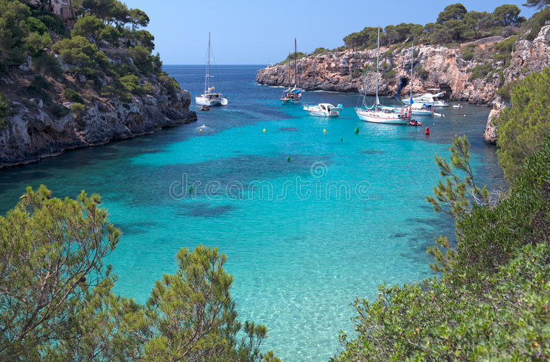The Beautiful Beach of Cala Pi in Mallorca, Spain royalty free stock images