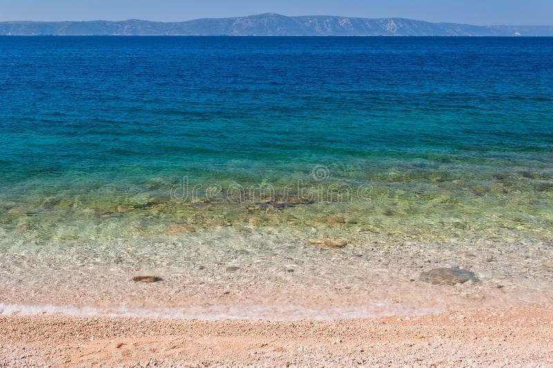 Beautiful beach with clear water. Podgora, Croatia royalty free stock photo