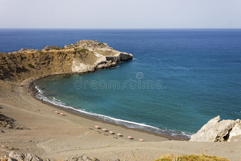 A beautiful beach in Crete Island stock images