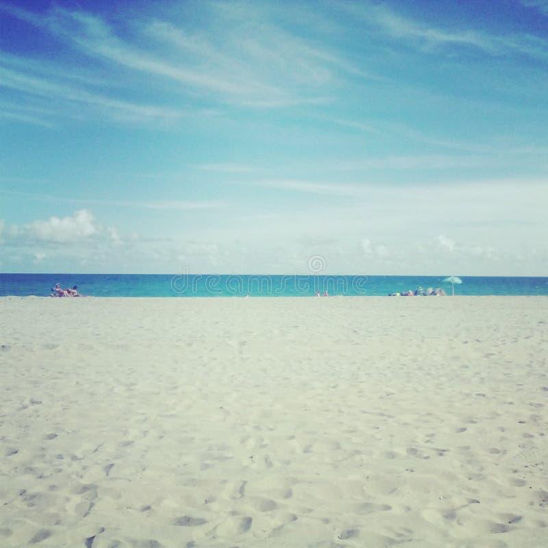 Beautiful beach day stock photography