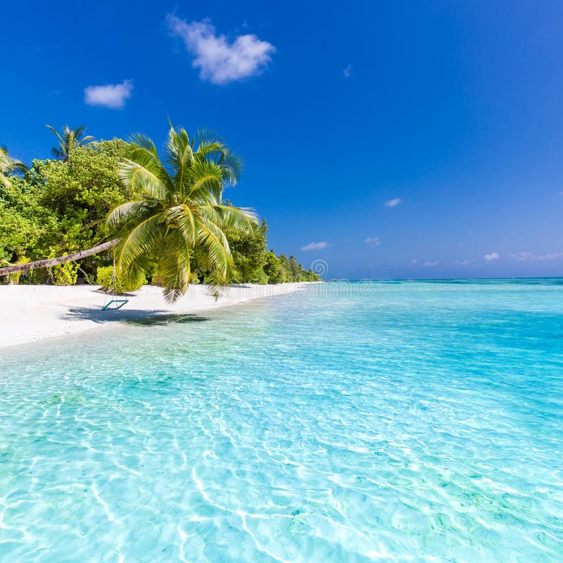 Beautiful Beach Landscape. Summer Holiday And Vacation