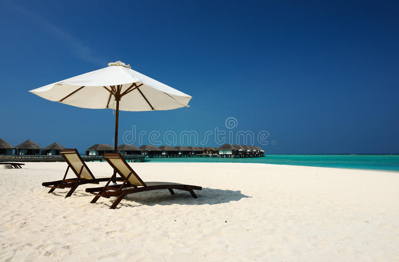 Beautiful beach at Maldives. South Male Atoll royalty free stock photo