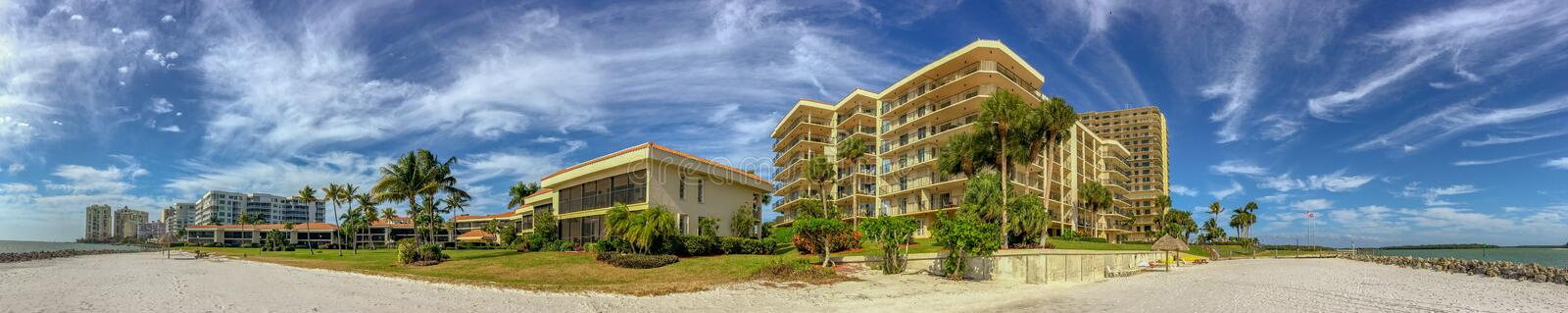 Beautiful beach in Marco Island, panoramic view royalty free stock photos