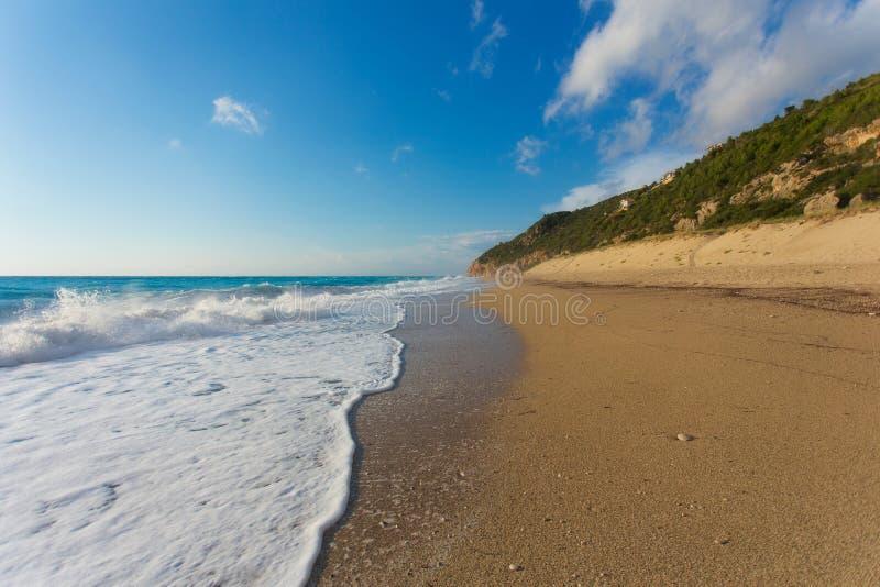 The beautiful beach of Milos (Lefkada) stock photos