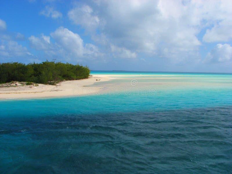 Beautiful beach on Mouli, Ouvea island, New Caledo stock images