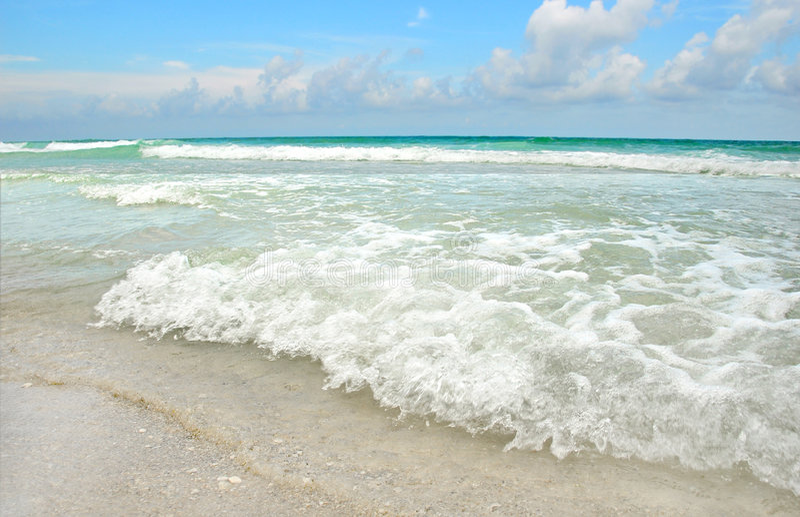 Beautiful Beach and Ocean stock photography