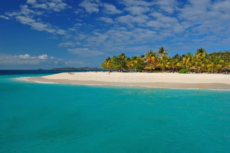 Beautiful Beach On Palm Island Stock Photography