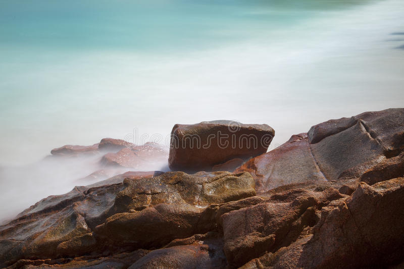 Download Beautiful beach with rocks stock photo. Image of background - 39503386