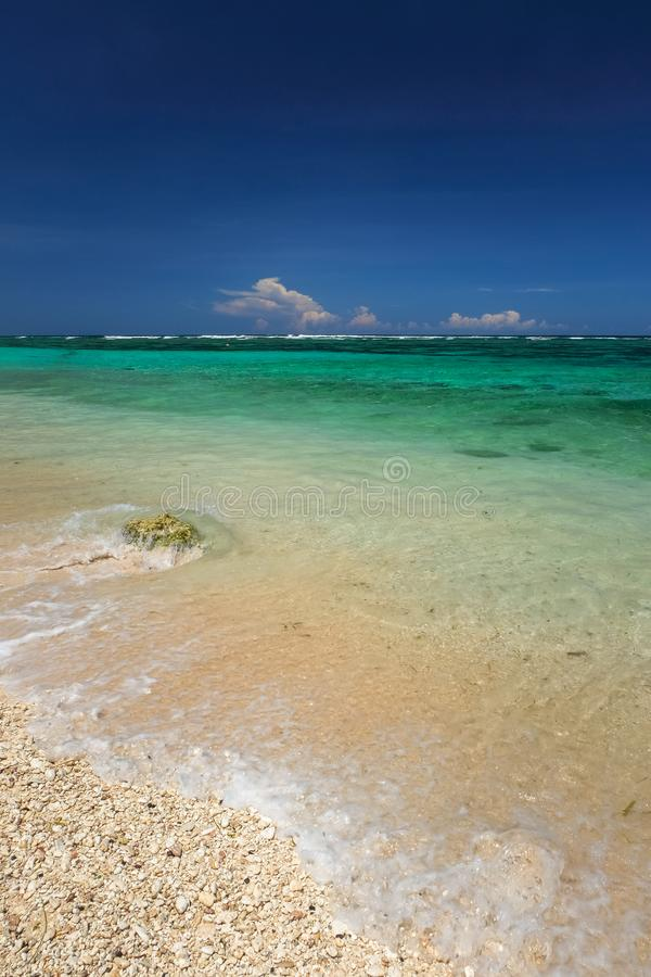 Beautiful beach scenery stock photos