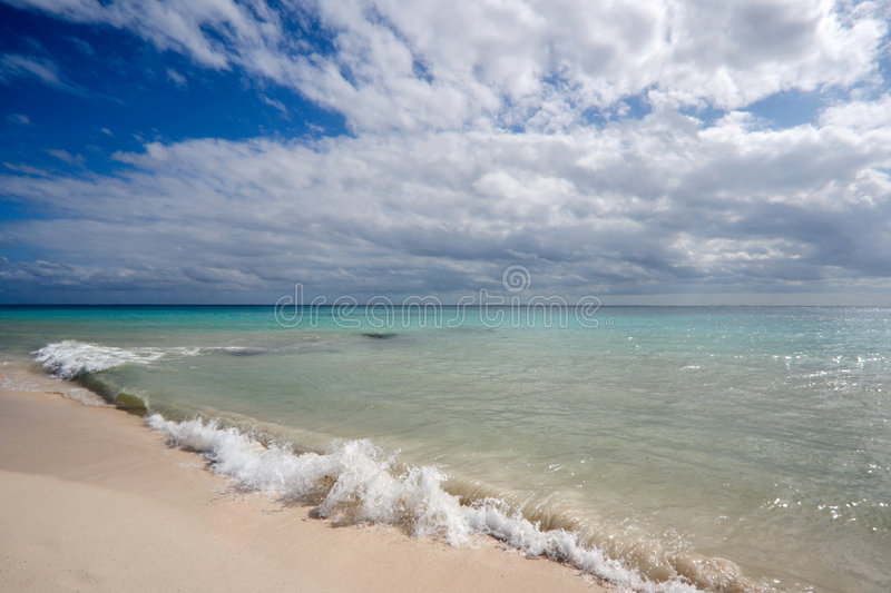 Beautiful beach and sea stock photography