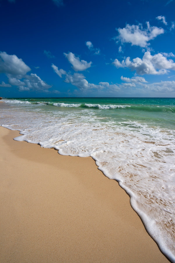 Beautiful beach and sea stock photos