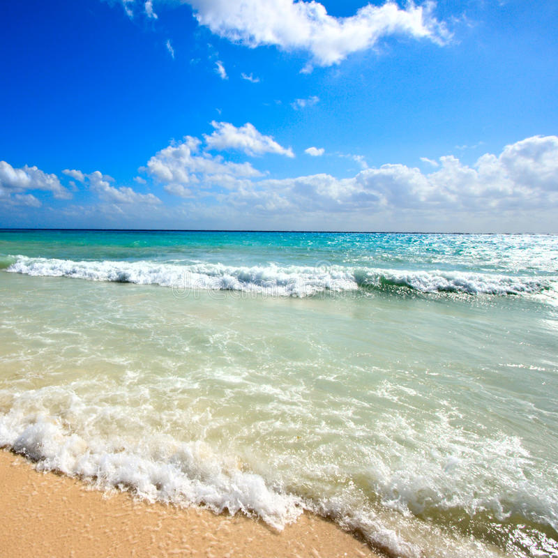 Beautiful beach and sea royalty free stock image
