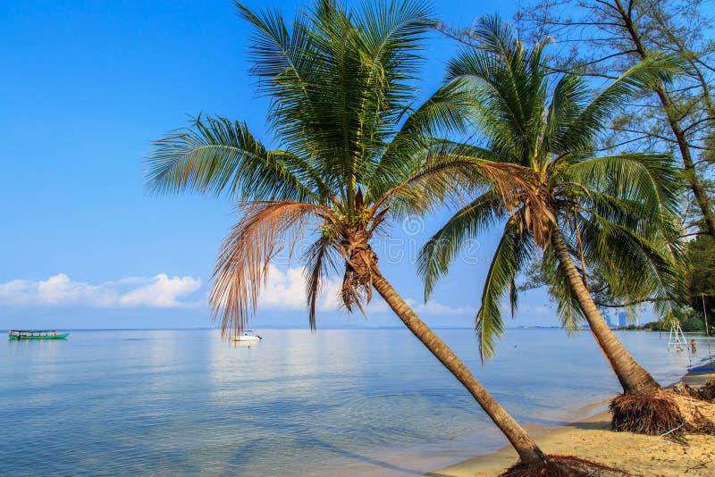 Beautiful beach of Sihanoukville, Cambodia. Sunny day stock photos
