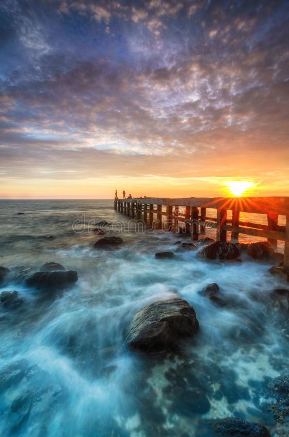 THE SUNLY STEPS FOR THE STARS stock images