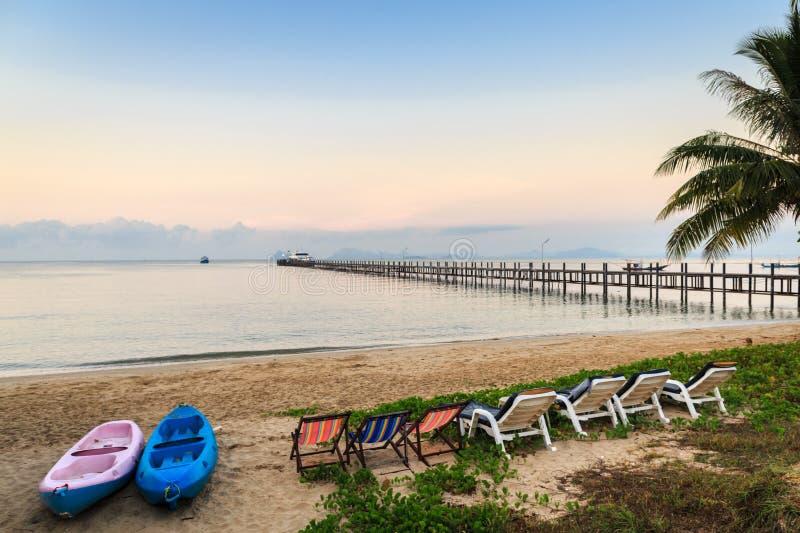 Beautiful Beach On Tropical Island Royalty Free Stock Image