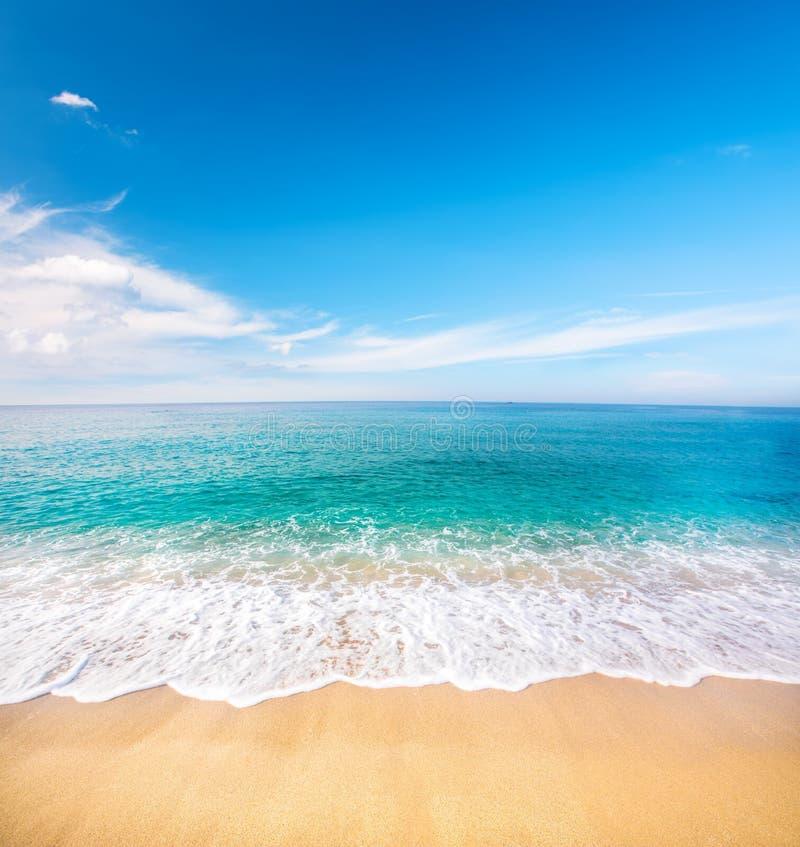 Beautiful beach and tropical sea royalty free stock photos