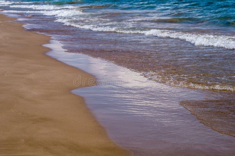 Beautiful beach waves stock photo