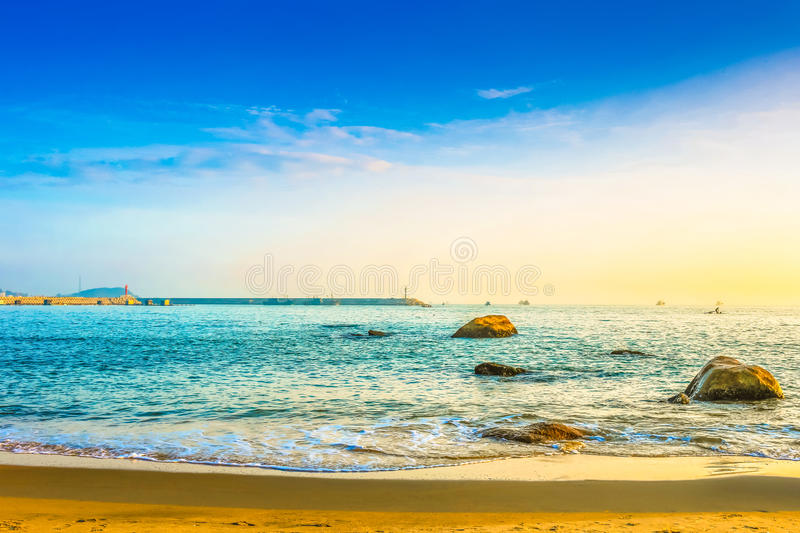 The beautiful beaches of Nanaodao. Very beautiful royalty free stock images